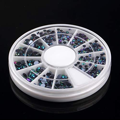Prima05Sally 300 stücke 3D Edelsteine   Kristall Nail Art Aufkleber Tipps Kristall Glitter Strass DIY Dekorationen Maniküre + Rad Plattenspieler (Nagellack Case Handy)