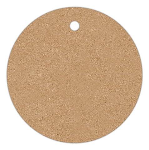 Anhänge-Etiketten AC-26-500 - 40 mm rund - braun-natur (11) Lochstanzung 3 mm - 500 Stück