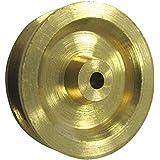 HSI Seilrollen Messing blank 25 mm, 10 Stück, 344250.0