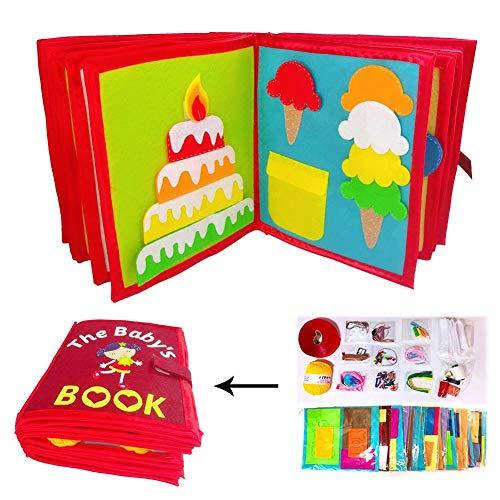 Lossomly Libro De Tela para Niños