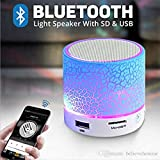Voltac Mushroom Rechargeable Portable Bluetooth Speaker With SD Card Slot And FM Compatible For All Android/iPhone Mobiles - Assorted Color Model 427759