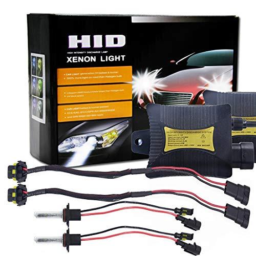 Lumières de haute qualité, 55W 9005 / H10 / HB3 6000K a caché le kit de conversion de lumière de xénon avec le ballast mince de décharge de haute intensité, blanc