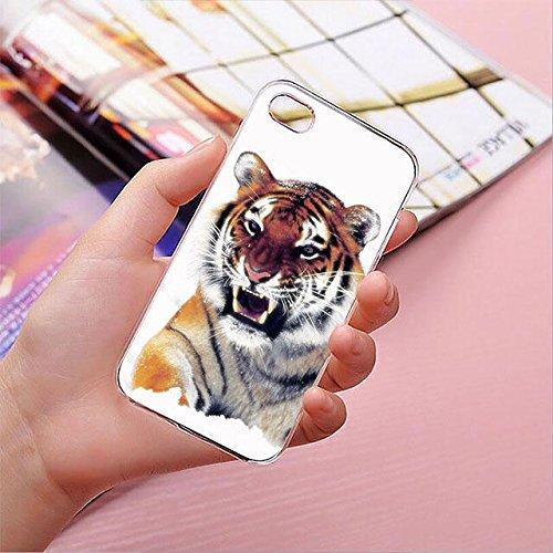 finoo | iPhone 8 Plus Handy-Tasche Schutzhülle | ultra leichte transparente Handyhülle in harter Ausführung | kratzfeste stylische Hard Schale mit Motiv Cover Case | Elefanten Marsch Tiger V1