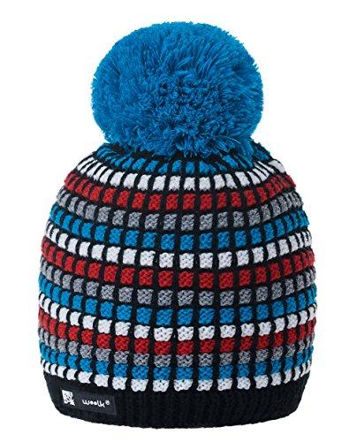 MFAZ Morefaz Ltd Mujer Hombre Beanie Sombrero De Invierno de Las con  Multicolor Pompón Forro Polar 88556ccb472b
