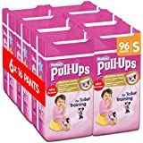 Huggies Pull-Ups Girls Day Time Pants Convenience Pack, Small - 6 Packs (16 Pants Per Pack, 96 Pants Total)