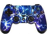 Stillshine PS4 Skin Vinyle autocollant Sticker Decal de Protection pour Sony Playstation 4 PS4 Slim PS4 Pro Dualshock Manette x 1 (Electric Blue)
