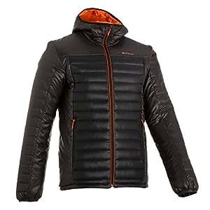 Quechua Men's Polyamide Down Jacket(108123_Black_Xl)