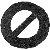 Bestlivings Raffhalter sisal, Auswahl: Circle schwarz - Jet Black