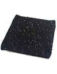 PRESKIN - scintillant de paillettes jupe stretch | Top bandeau avec effet glamour | Mini jupe festive | extensible + polyvalent