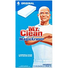 "Mr. Clean Magic Eraser Pads,4-3/5""x2-2/5""x1"",4/PK,BE/WE, Sold as 1 Package"