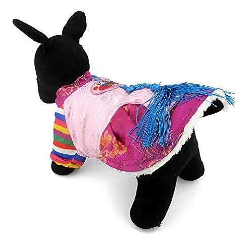 ranphy Pet Hund Katze Warm Fleece Gefüttert Seide Nobility Traditionelle koreanische Tracht Jäten Kleidung Halloween-Kostüm Chihuahua (Einfache Katzen-kostüm Für Arbeit)