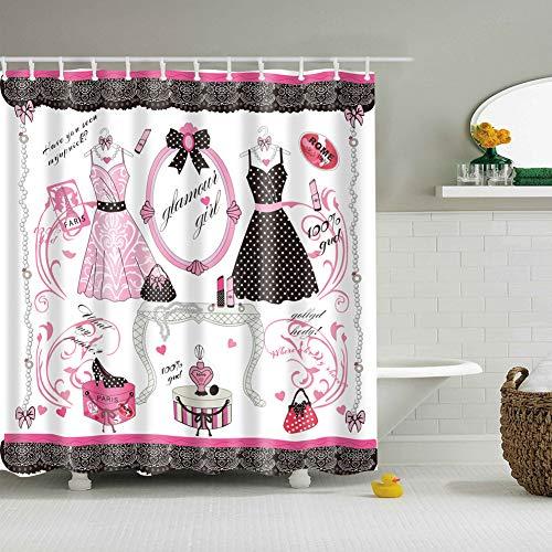 XHWL767 Weißer Hintergrund Rosa Rock Schwarzes Kleid Schminktisch Geschenkbox Lippenstift Handtasche Schwarzer Punkt Schuhe Schimmelbeweis