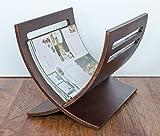 Porte revues magazine en bois brun, Dim : L30 x H29 x P36 cm -PEGANE-