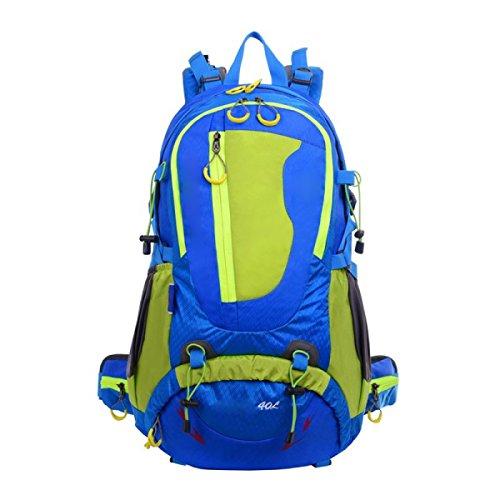 Outdoor-Bergsteigen-Tasche Doppelte Schultern Männer Und Frauen Reisen Wasserdichter Profi-Rucksack,Orange Blue