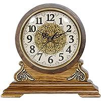 Xia Xia Hochwertige Kaminsims Uhr Stille Holz Zifferblatt Durchmesser 16cm
