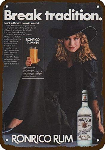 1982 Ronrico Rum Vintage Look Replica Metal Sign 7