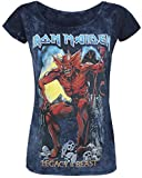 Iron Maiden Legacy of The Beast 2 Girl-Shirt grau/Navy S