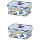 Lock&Lock Classic Polypropylene Food Container, 350ml, Set Of 2, Clear
