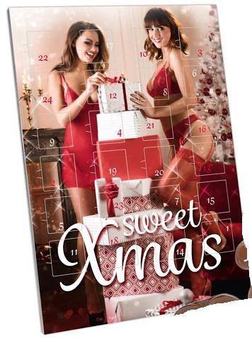 Sweet Xmas Adventskalender 2017 - Schokoladen Weihnachtskalender für Erwachsene, 24 Türchen mit Vollmilchschokolade in erotischer Form