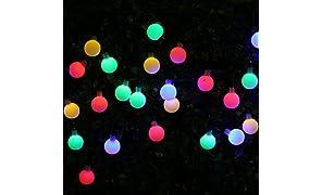 Guirlande lumineuse solaire avec 30LED bohmain 6mètres de long Éclairage de jardin multicolores lanternes Applique murale extérieur pour les fêtes, endeko, Applique murale extérieur Décoration Lave-vaisselle, les plantes etc. de Noël Multicolore