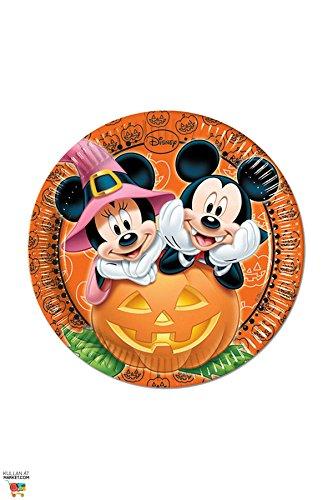 Disney Pappteller für Halloween-Partys, Motiv Micky Maus, 23cm, 8Stück