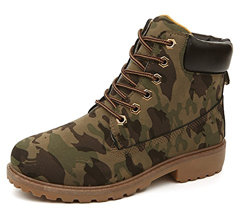 Bloc Rangers Aisun Camouflage Femme Talons Bottines Confortable Pqwcp1