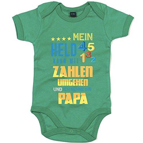 Mathematik Premium Babybody Berufe Follow Your Dreams Traumberuf Mädchen Kurzarmbody, Farbe:Grün (Kelly Green BZ10);Größe:6-12 Monate