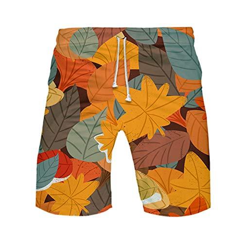 Meiju Pantalones de Playa Talla Grande 3D