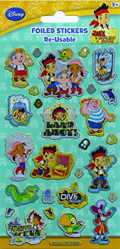 Disney Jake & The Neverland Pirates Foiled Re-Usable Sticker Pack