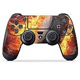 DeinDesign Folie Skin Sticker für Sony Playstation 4 Controller PS4 aus Vinyl-Folie Aufkleber Eishockey Flammen Slapshot