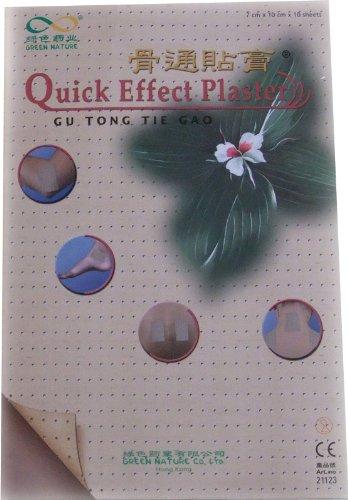 10 Stück QUICK EFFECT natürliches Wärmepflaster Gr. 10 x 7 cm aus China - Green Nature