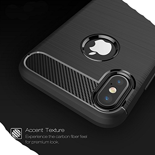 iPhone8 7 Plus Soft Carben Fiber Case, Very Light Slim Lines Style Soft Good Hand Feeling, WEIFA 2017 Newest Super Cool Anti-Drop Protection CellPhone Cover Case For iPhone 8 7Plus Black !Gray