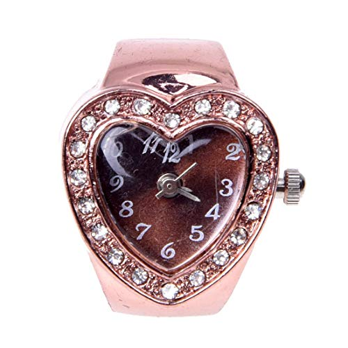 SODIALR Anillo Reloj Metal Circonita Forma Corazon