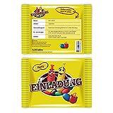 Einladungen (30 Stück) als Schokolinsen Schokolade Nüsse Karten Einladungskarten