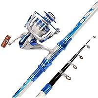 sports Set caña de Pescar de mar, Fibra Carbono Caña de Pescar de lejos-Cast Equipos de Pesca Suministros de Artes de Pesca-A 2.4m