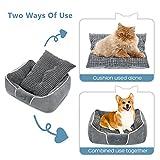 Pecute Hundebett Haustierbett für Katzen und Hunde Rechteck Ultra Weicher Plüsch luxuriöse Haustier-Schlafsack Maschine waschbar - 6