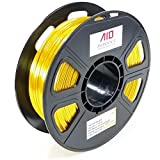 AIO Robotics AIOGOLDSILK PLA 3D Drucker Filament, 0.5 kg Spule, Genauigkeit +/- 0.02 mm, Durchmesser 1.75 mm, Gold Seide