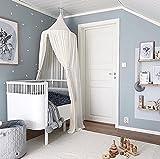 Zinsale Kinder Bett Baldachin Baumwolle Moskitonetz Hängenden Vorhang Babyhimmel Indoor Outdoor Lesen Spielen Zelt, Höhe 240 cm (Weiß)