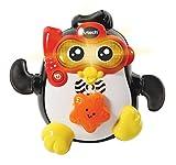 VTech Chapoteos Frank, Juguete baño bebé, animal nadador interactivo con voz y luz, sumergible y con más de 30 melodías, canciones y frases (3480-501722)