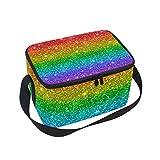 DOSHINE Rainbow Glitter Star Stripe Lunch Box Bag - Best Reviews Guide