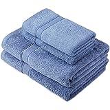 Pinzon by Amazon Handtuchset aus Baumwolle, Wedgewood-Blau, 2 Bade- und 2 Handtücher