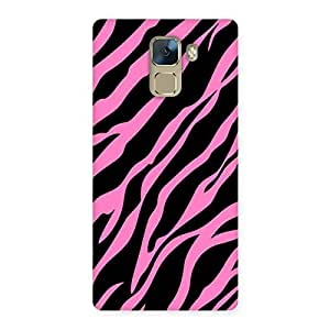Neo World Pink Cheetah Stripes Back Case Cover for Huawei Honor 7