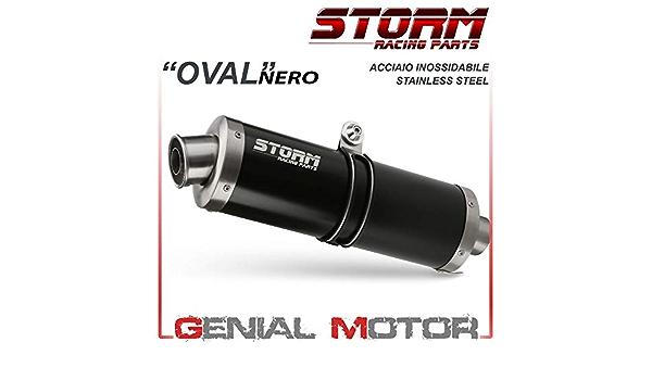 74 S 045 Lx1b Auspuff Storm By Mivv Schalldampfer Oval Nero Stahl Sv 650 2017 17 Auto
