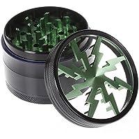 Premium Alluminio 63mm polline/Macina Spezie/Macina Erbe/Top con setaccio e magnetica,