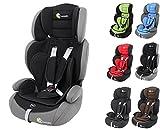 Clamaro 'Guardian' Kinderautositz 9-36 kg Kopfstütze verstellbar mitwachsend, Auto Kindersitz für Kinder von 1-12 Jahre, Gruppe 1/2/3, ECE R44/04, Farbe: Grau Schwarz