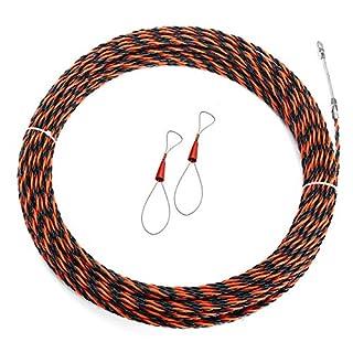 ChaRLes 8 Sizes 5Mm Cable Puller Fiberglass Wire Puller Elektrowerkzeug Fisch-Tape Kabel - 40M