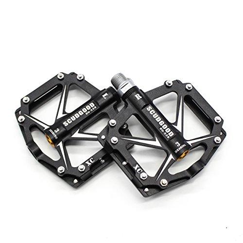 Willyn Aluminium Fahrrad Pedale MTB / Mountainbike Pedal / BMX Pedal / Kugellager + Cr-Mo Achse (JT05-B-D)