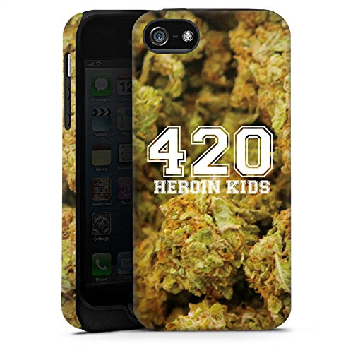 Apple iPhone X Silikon Hülle Case Schutzhülle 420 Weed College Tough Case matt