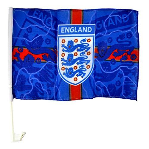 Auto-Flagge England mit Blitz-Design (Einheitsgröße) (Blau/Rot/Weiß)
