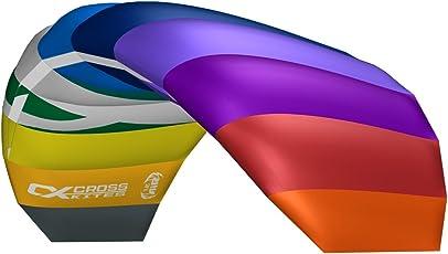 Cross Kites 2,5m Air Zwei Line Stunt Kite (Regenbogen)